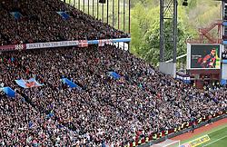 23 April 2017 - EFL Championship Football - Aston Villa v Birmingham City - Players and fans observe a minutes applause for former Villa defender Ugo Ehiogu - Photo: Paul Roberts / Offside