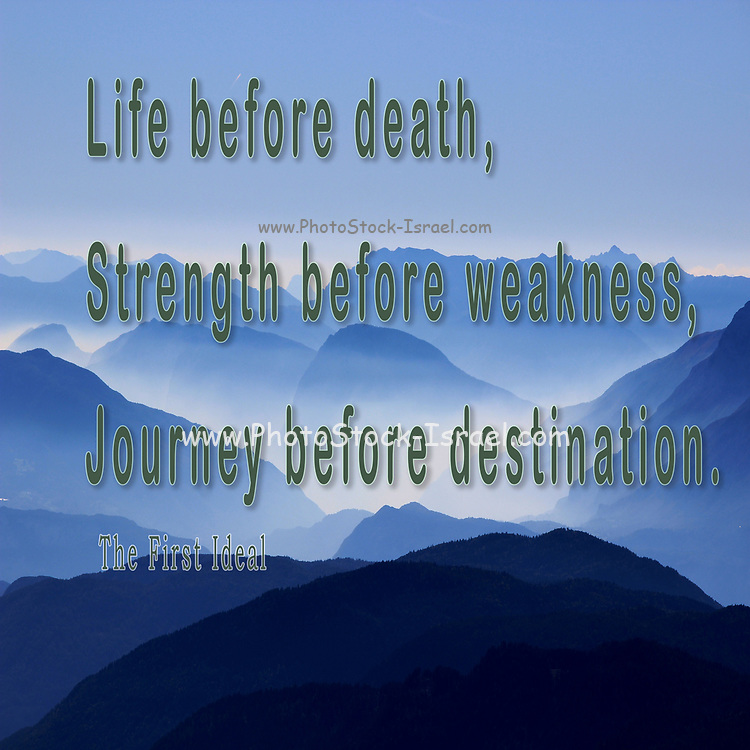 "Digitally enhanced image ""Life before death, strength before weakness, journey before destination."" The First Ideal from stormlight"