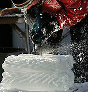 12/16/05  Omaha, NEThe holiday lights festival-Ice Sculptors on the Con Agra campus. (photo by Chris Machian/Prarie Pixel Group)