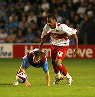 Photo: Mark Stephenson.<br /> Walsall v Aston Villa. Pre Season Friendly. 07/08/2007.Walsall's Ishmel Demontagnac (no 12 ) wins the ball