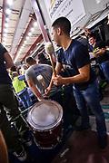 Commando Ultra' Dinamo<br /> Banco di Sardegna Dinamo Sassari - Grissin Bon Reggio Emilia<br /> Legabasket LBA Serie A 2019-2020<br /> Sassari, 16/11/2019<br /> Foto L.Canu / Ciamillo-Castoria