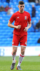 Daniel Ayala of Middlesbrough warms up- Mandatory by-line: Nizaam Jones/JMP - 17/02/2018 -  FOOTBALL - Cardiff City Stadium - Cardiff, Wales -  Cardiff City v Middlesbrough - Sky Bet Championship