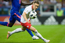 June 24, 2018 - Kazan, Russia - Piotr Zielinski of Poland during the Russia 2018 World Cup Group H football match between Poland and Colombia at the Kazan Arena in Kazan on June 24, 2018. Colombia won 0-3. (Credit Image: © Foto Olimpik/NurPhoto via ZUMA Press)