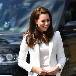 June 16, 2017 - London, London, United Kingdom - Image ©Licensed to i-Images Picture Agency. 16/06/2017. London, United Kingdom. Duchess of Cambridge-Docklands Sailing and Watersports Centre.  The Duchess of Cambridge, Patron of the 1851 Trust,  attend's the charity's final Land Rover BAR Roadshow at the Docklands Sailing and Watersports Centre, London. Picture by Andrew Parsons / i-Images (Credit Image: © Andrew Parsons/i-Images via ZUMA Press)