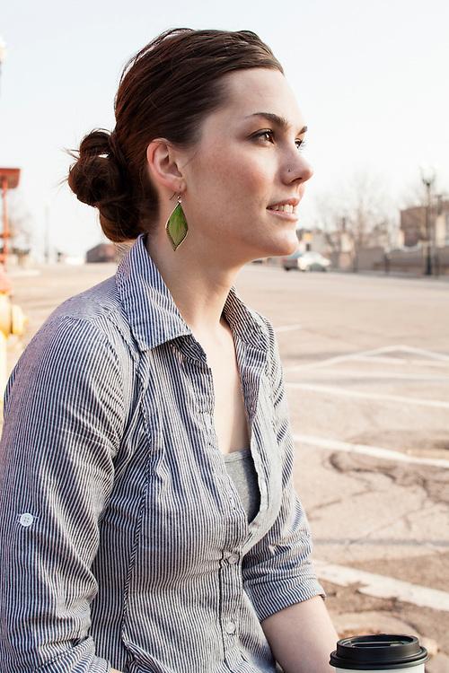 16 March 2012- Autumn Pruitt, Bliss Bakery & Aromas is photographed at.1031 Jones St. in downtown Omaha, Nebraska.