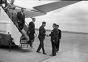 17/7/1964<br /> 7/17/1964<br /> 17 July 1964<br /> <br /> Ayub Khan President of Pakistan stepping of the plane on his offical visit to Ireland