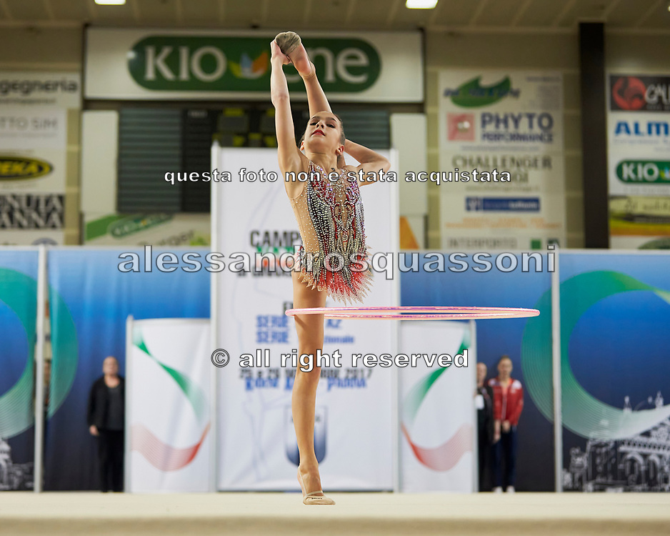 Sofia Raffaeli from Fabriano team during the Italian Rhythmic Gymnastics Championship in Padova, 25 November 2017.