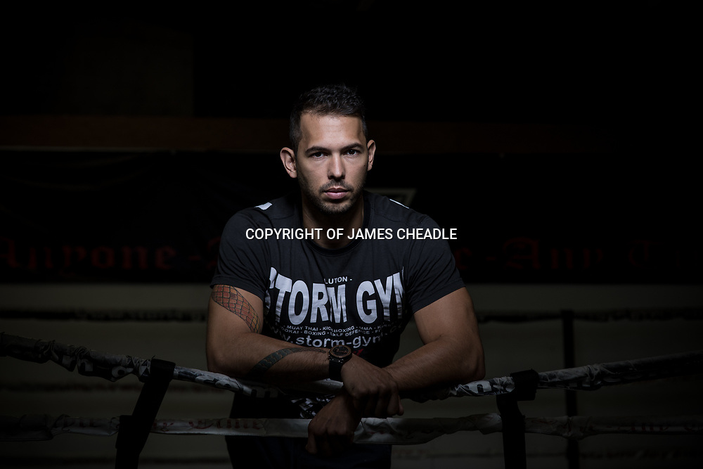 Andrew Tate, photographde at Storm Gym, Luton. Andrew Tate Portrait