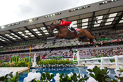 Steve Guerdat, (SUI), Nino Des Buissonnets - World Champions, - Second Round Team Competition - Alltech FEI World Equestrian Games™ 2014 - Normandy, France.<br /> © Hippo Foto Team - Leanjo De Koster<br /> 25/06/14