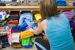 Fabrics on display at Sportees Active Wear in Whitehorse Yukon
