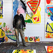 Iain Robertson who is in Studio 7. The building has been occupied by artists and fishermen for over 100 years, remaining virtually untouched.