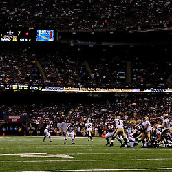 September 9, 2010; New Orleans, LA, USA;  New Orleans Saints quarterback Drew Brees (9) throws a pass during the NFL Kickoff season opener at the Louisiana Superdome. The New Orleans Saints defeated the Minnesota Vikings 14-9.  Mandatory Credit: Derick E. Hingle