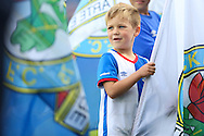 Young Blackburn Rovers flag waver before the EFL Sky Bet Championship match between Blackburn Rovers and Burton Albion at Ewood Park, Blackburn, England on 20 August 2016. Photo by Simon Brady.