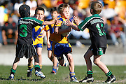 Mini Rugby League at halftime. Fox Memorial Finals, Mt Albert v Papakura at Mt Smart Stadium Ground 2, Auckland, New Zealand. Saturday 5 September 2009. Photo: Anthony Au-Yeung/PHOTOSPORT