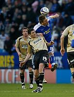 Photo: Steve Bond/Richard Lane Photography. Leicester City v Huddersfield Town. Coca Cola League One. 24/01/2009. Steve Howard gets above Phil Jevons