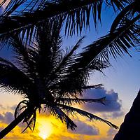 Caribbean sunrise on the island of St. Lucia.