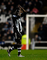 Photo: Jed Wee/Sportsbeat Images.<br /> Newcastle United v Birmingham City. The FA Barclays Premiership. 08/12/2007.<br /> <br /> Newcastle's Obafemi Martins applauds the fans after scoring the equaliser from the penalty spot.