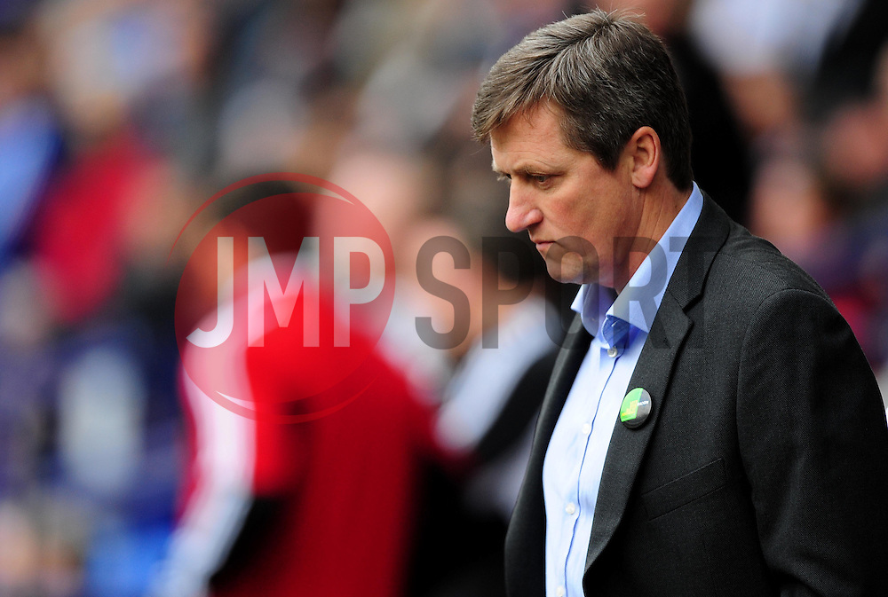 Bolton Wanderers caretaker manager, Jimmy Phillips - Photo mandatory by-line: Joe Meredith/JMP  - Tel: Mobile:07966 386802 20/10/2012 - Bolton Wanderers v Bristol City - SPORT - FOOTBALL - Championship -  Bolton  - Reebok Stadium