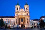 Baroque Minorite church ( Minorita Templon ) Dobo square. Eger Hungary .<br /> <br /> Visit our HUNGARY HISTORIC PLACES PHOTO COLLECTIONS for more photos to download or buy as wall art prints https://funkystock.photoshelter.com/gallery-collection/Pictures-Images-of-Hungary-Photos-of-Hungarian-Historic-Landmark-Sites/C0000Te8AnPgxjRg
