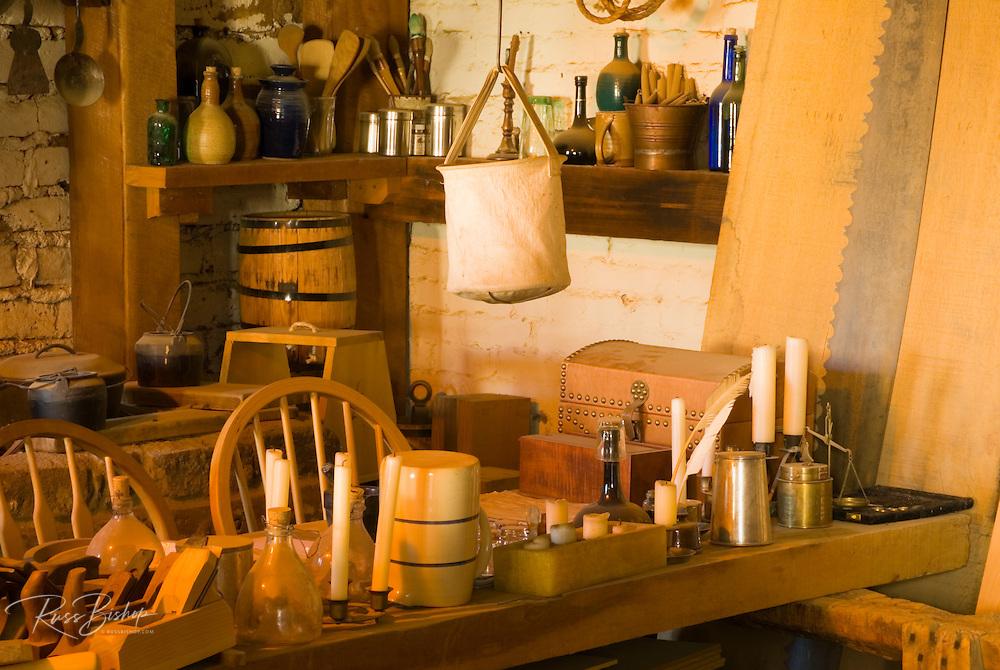 The carpenter's shop, Sutter's Fort State Historic Park, Sacramento, California