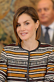 Queen Letizia meeting with the Council of the Royal Board