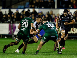 Scott Baldwin of Ospreys<br /> <br /> Photographer Simon King/Replay Images<br /> <br /> Guinness PRO14 Round 7 - Ospreys v Connacht - Friday 26th October 2018 - The Brewery Field - Bridgend<br /> <br /> World Copyright © Replay Images . All rights reserved. info@replayimages.co.uk - http://replayimages.co.uk