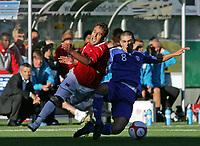 Fotball <br /> u21 em-kvalifisering<br /> 29.08.2010 <br /> Norge v Kypros 1-3<br /> color line stadion<br /> <br /> Antonis Catsis - kypros<br /> Mohammed fellah - norge<br /> <br /> <br /> <br /> Foto:Richard brevik Digitalsport