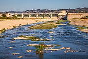 Sepulveda Dam, Sepulveda Basin Recreation Area, San Fernando Valley, Los Angeles, California, USA
