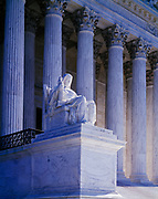 Steps of the United States Supreme Court, Washington, District of Columbia.