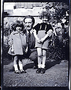 father with two children 1930s