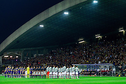 Teams during football match between NK Maribor and Sporting Lisbon (POR) in Group G of Group Stage of UEFA Champions League 2014/15, on September 17, 2014 in Stadium Ljudski vrt, Maribor, Slovenia. Photo by Vid Ponikvar  / Sportida.com