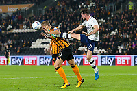 Preston North End's Sean Maguire competing with Hull City's Michael Dawson<br /> <br /> Photographer Andrew Kearns/CameraSport<br /> <br /> The EFL Sky Bet Championship - Hull City v Preston North End - Tuesday 26th September 2017 - KC Stadium - Hull<br /> <br /> World Copyright © 2017 CameraSport. All rights reserved. 43 Linden Ave. Countesthorpe. Leicester. England. LE8 5PG - Tel: +44 (0) 116 277 4147 - admin@camerasport.com - www.camerasport.com