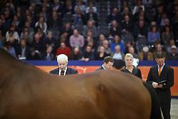 Jury, Versteeg Wim, NED), Klompmaker Hester, (NED), Loeffen Cor, (NED), Van Der Schans Wout Jan, (NED)<br /> KWPN Henstenkeuring 's Hertogenbosch 2015<br /> © Dirk Caremans