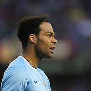 Joleon Lescott, Manchester City, in action during the Manchester City V Chelsea friendly exhibition match at Yankee Stadium, The Bronx, New York. Manchester City won the match 5-3. New York. USA. 25th May 2012. Photo Tim Clayton