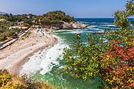 Agios Ioannis, Pelion, Greece - July, 2021: Damouchari Beach
