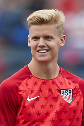 May 28, 2018 - Chester, PA, U.S. - CHESTER, PA - MAY 28: United States midfielder Keaton Parks (25) warms up prior to the international friendly match between the United States and Bolivia at the Talen Energy Stadium on May 28, 2018 in Chester, Pennsylvania. (Photo by Robin Alam/Icon Sportswire) (Credit Image: © Robin Alam/Icon SMI via ZUMA Press)