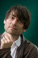 Broadcaster, commentator and farmer Alex James, former member of British rock band Blur, pictured at the Edinburgh International Book Festival, where he talked his new memoir entitled Bit of a Blur. The event is the world's biggest literary festival and is held during the annual Edinburgh Festival. 2008 was the Book Festival's 25th anniversary and featured talks and presentations by more than 500 authors from around the world.