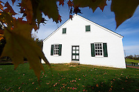 The Dunker Church, Antietam National Battlefield, Sharpsburg, Maryland, USA.