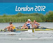 Eton Dorney, Windsor, Great Britain,..2012 London Olympic Regatta, Dorney Lake. Eton Rowing Centre, Berkshire[ Rowing]...Description;   Women's Pair Final Gold Medalist   GBR W2- Helen GLOVER (b) , Heather STANNING (s)  Dorney Lake. 11:57:33  Wednesday  01/08/2012.  [Mandatory Credit: Peter Spurrier/Intersport Images].Dorney Lake, Eton, Great Britain...Venue, Rowing, 2012 London Olympic Regatta...
