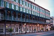 Historic Marshall House Hotel in Savannah, Georgia, USA.