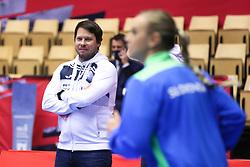 HERNING, DENMARK - DECEMBER 6: Uros Bregar, head coach of Slovenia, during the EHF Euro 2020 Group A match between Slovenia and France in Jyske Bank Boxen, Herning, Denmark on December 6, 2020. Photo Credit: Allan Jensen/EVENTMEDIA.