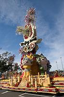 Beijing 2008 Olympics Tournament of Roses Parade Float, Pasadena, California