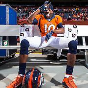 Denver Broncos wide receiver Emmanuel Sanders (10) poses for a photo before an NFL regular season game against the Baltimore Ravens on Sunday, Sept. 13, 2015 in Denver. The Broncos won the game, 19-13. (Ric Tapia via AP)