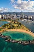 Magic Island, Ala Moana Beach Park, Oahu, Hawaii