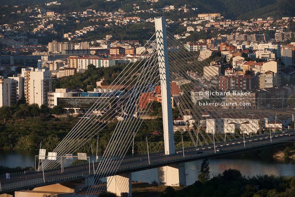 Ponte Rainha Santa Isabel Bridge at Coimbra, Portugal.