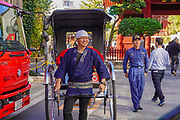 Rickshaw runner in Tokyo, Japan