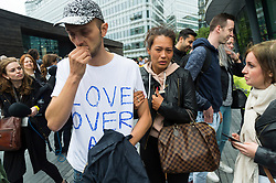 © Licensed to London News Pictures. 05/06/2017. London, UK. Melissa (right), the sister of London Bridge terror attack victim, James McMullan, attends a vigil at Potters Fields Park outside City Hall in London for those who lost their lives in the London Bridge terror attack. James McMullan was killed when three men attacked members of the public  after a white van rammed pedestrians on London Bridge. Ten people including the three suspected attackers were killed and 48 injured in the attack. Photo credit: Ben Cawthra/LNP