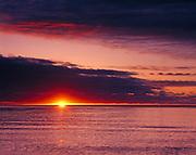 Sunrise over Lake Huron between Oscoda and Greenbush, Michigan