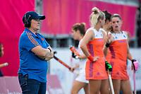 ANTWERPEN - coach Alyson Annan (Ned)   tijdens  hockeywedstrijd  dames,Nederland-Spanje (1-1),   bij het Europees kampioenschap hockey.  COPYRIGHT KOEN SUYK