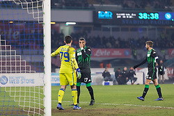January 13, 2019 - Naples, Campania, Italy - Boateng (R) of Sassuolo seen reacting during the Serie A football match between SSC Napoli vs US Sassuolo at San Paolo Stadium. (Credit Image: © Ernesto Vicinanza/SOPA Images via ZUMA Wire)